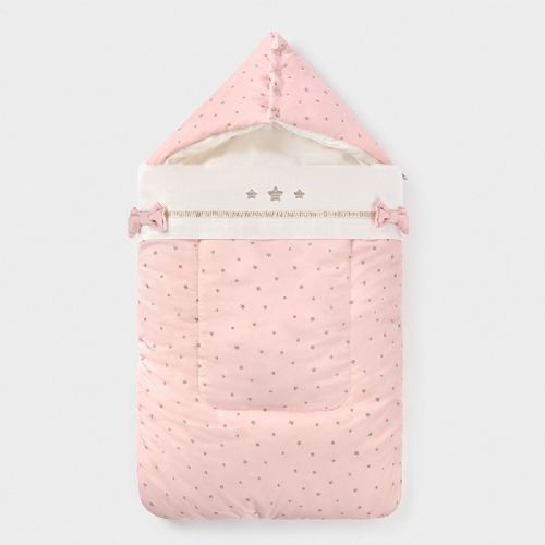 Universal Patterned Footmuff - Rose Pink